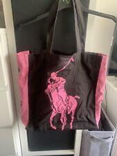 RALPH LAUREN - Black And Pink Tote Bag