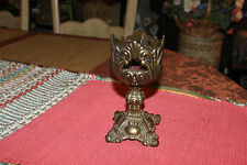 Vintage Chalice Metal Candle Holder-Gothic Medieval Style Candlestick Holder