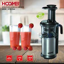 Estrattore di succo a freddo Frutta e Verdura Centrifuga lenta Slow Juicer 200W