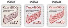 2453 2454 2454l Canoe 1800s 5c Variety Set 3 Transportation 1991 MNH - Buy Now