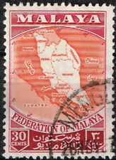 Malaya colonial Map stamp 1958