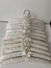 Dozen Whte Satin Padded Hangers