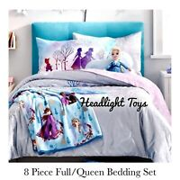 Disney Frozen 2 Full Queen Bedding Quilt Sham Sheet Set Elsa Doll Pillow Anna