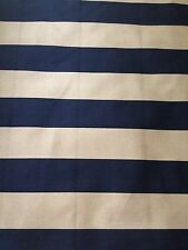 Ralph Lauren - Black & Taupe Wide Canopy Stripe - 1 1/4 Yard Upholstery Fabric
