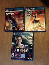Sports Video Games PS4 Bundle | NBA 2k15 | WWE 2k15 | FIFA2k14