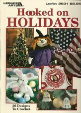 Hooked on Holidays Crochet Instruction Patterns Christmas Easter Halloween+ NEW