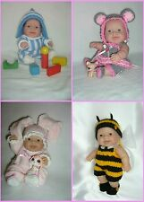 """PATTERN- 5"""", 8"""", 10"""" Berenguer Lil' Cutesies doll's outfit knitting  Set of 4"""