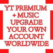 12 Months YT RED Premium & Music Upgrade YOUR Account WORLDWIDE FAST DELIVERY