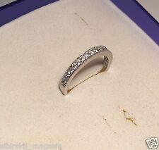 Ring Größe 8 Zirkonia, 925 Sterling Silber, Rhodiniert 0038