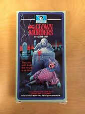 The Clown Murders Motion Picture VHS 1976 John Candy Horror Mystery Drama RARE