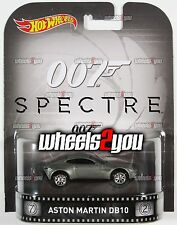 ASTON MARTIN DB10 James Bond 007  - 2016 Hot Wheels Retro Entertainment B Case