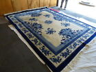 """9' X 12"""" Vintage Handmade Chinese Carving Sculpture Wool Rug ASIAN CHINESE"""