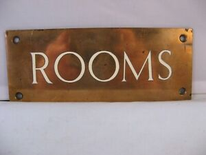 Bronze and Enamel Rooms Sign