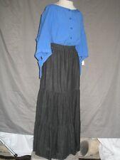 Medieval Renaissance Peasnt Gypsy Dress Blue Blouse Black Skirt