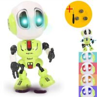 Mini Interactive Metal Talking Robot Flashing Lights Toy Toddlers Kids Xmas Gift