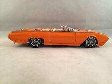 Danbury Mint 1962 Custom Orange Ford Thunderbird 1:24 Scale Diecast with Box