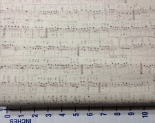 SYMPHONY~NEUTRAL~BY 1/2 YD~TIM HOLTZ ECLECTIC FOUNDATIONS FABRIC~MUSIC SCORE
