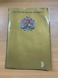 THE PORT OF BRISTOL AUTHORITY MARITIME SHIPPING GOLD DOCUMENT WALLET FOLDER