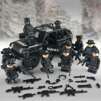 SWAT Special Forces Army Jeep Custom 12 Minifigures Set - USA