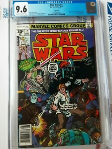 STAR WARS #2 1977 CGC 9.6 1ST APPEARANCE HAN SOLO CHEWBACCA NEWSSTAND REPRINT
