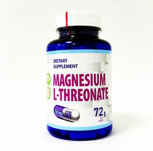 Magnesium L-Threonate 500mg 120 Capsules Cognition Brain Health