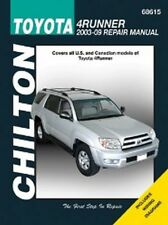 2003-2009 Toyota 4Runner Chilton Haynes Repair Service Workshop Manual 3927683