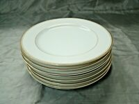 "Crown Empire REGENT Set of 8-7 3/4"" Salad Plates Gold Trim Made in Japan NEW"