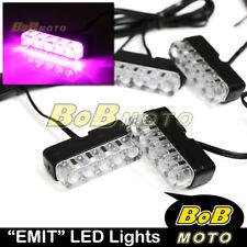 EMIT 12V Pink Mini LED Super Bright Blinker Set For Honda Motorcycles Bike