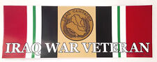 IRAQ WAR VETERAN  Military Veteran Bumper Sticker BM0476-2 EE