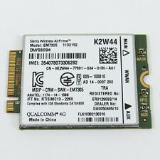 DELL LATITUDE E5450 WWAN M.2 4G CARD K2W44
