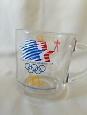 Olympic glass coffee mug 1984 McDonald's drink cup drinking Olympic