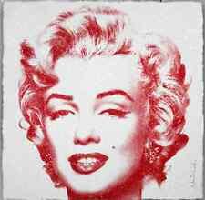 "Mr Brainwash ""Diamond Girl"" Red Edition Print Poster Marilyn Monroe like Warhol"
