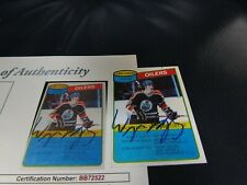 1980 TOPPS WAYNE GRETZKY AUTOGRAPHED HOCKEY TRADING CARD JSA Certified  (3)