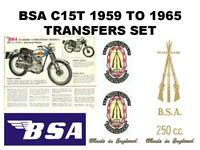 BSA C15 1959-65 Transfers Decals Set DBSA113 Classic Motorcycle