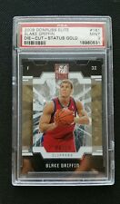 2009-10 BLAKE GRIFFIN DONRUSS ELITE ROOKIE RC SP GOLD DIE-CUT STATUS #4/24 PSA 9