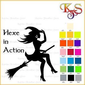 ♡♥ Bügelbild Hotfix   Hexe in Action   Flexfolie 20 Fb ♡♥
