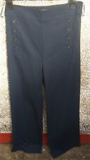"""LADIES TROUSERS by NEXT TAILORING, UK SIZE 10 R, NAVY, IN LEG 30"""", FLARED, NEW"""