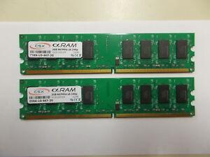 2 X CSX Alpha RAM, 2GB 667 MH X 8, 240p - 666 - DDR2 CXSA-LO.667-2G, #Su _92