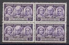 US 1948 Sc# 959 set Stanton Catt Mott block 4 MNH 100 years Progress Women issue