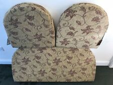 REPLACEMENT 3PCE CANE CUSHION CONSERVATORY FURNITURE WICKER INDOOR CUSHION SET