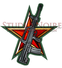 T97 / QBZ-95 Chinese Communist Army Bullpup Military Rifle Vinyl Decal Sticker