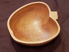 Vintage Wood Apple Shaped Bowl