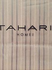 TAHARI HOME Metallic Striped Silver Gray White FULL QUEEN Duvet Shams Set 3PC