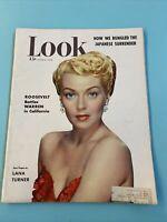 Vintage Look Magazine June 6 1950 Lana Turner George Kell Schlitz Pabst Ads