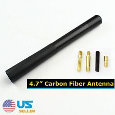 4.7Inch Black Car Antenna Short Carbon Fiber Radio AM/FM For Ford 2000-2018