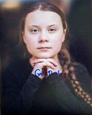 More details for greta thunberg: hand-signed 8 x 10 photo. environment climate activist. coa.
