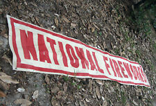 1940s Cloth National Fireworks Firecracker Advertising Banner 14 ft x 2 1/3 ft