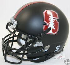 STANFORD CARDINAL (MATTE BLACK TREE) Schutt XP Mini Helmet