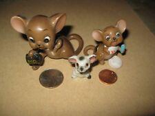 2 Vintage Josef Originals Ceramic Mouse Figurines Doctor Bag Baby Nibbles +1