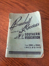 Vintage 1946 Baseball Records Southern Association From 1901 to 1946